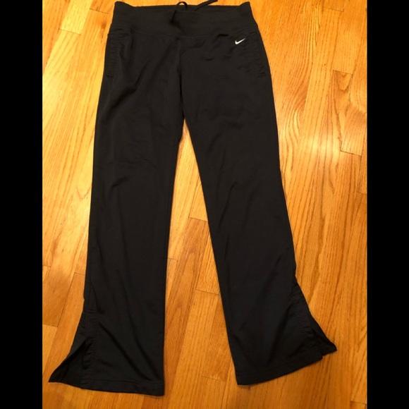 Nike Black Yoga/Athletic Pants Slit Side Ankle 4/6